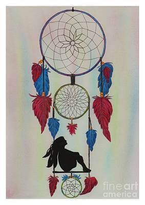 Catcher Mixed Media - Simple Dreamcatcher by Megan Brekelmans