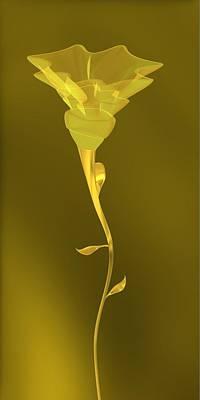 Flower Digital Art - Simple Flower by Alberto RuiZ