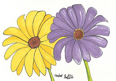 Gerbera Drawing - Simple Flower by Isabel Proffit