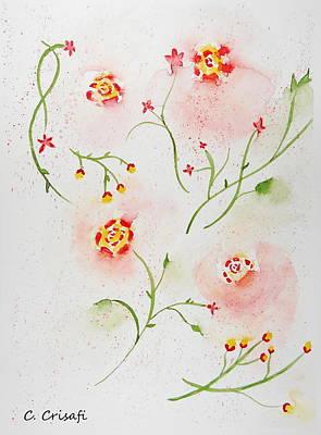 Simple Flowers #2 Art Print by Carol Crisafi