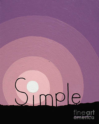 Simple Abstract Art Painting - Simple by Jaison Cianelli