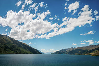 Photograph - Simple Lake Perspective Background by Daniela Constantinescu