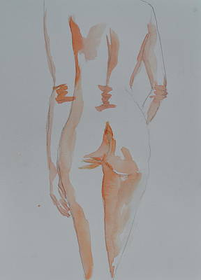 Art Print featuring the painting Simple Nude by Beverley Harper Tinsley