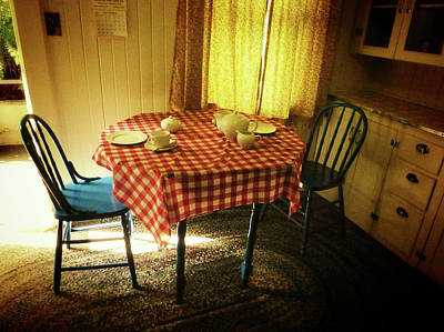 Checkered Tablecloth Photograph - Simple Pleasures by Connie Handscomb