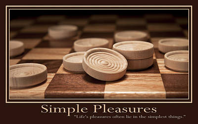 Checkers Photograph - Simple Pleasures Poster by Tom Mc Nemar