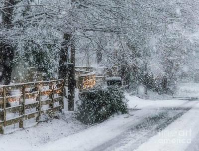 Digital Art - Simple Pleasures Snow by Elijah Knight