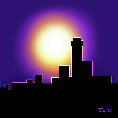 Digital Art - Simple Skyline Silhouette by Yvonne Blasy