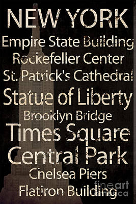 Central Park Mixed Media - Simple Speak New York by Grace Pullen