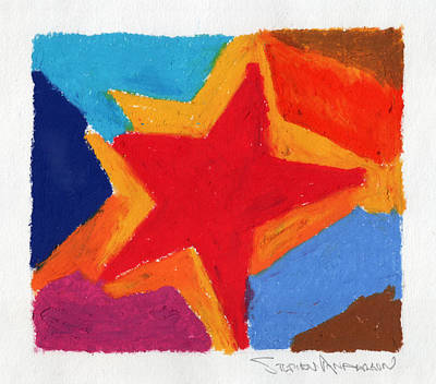 Simple Star Art Print by Stephen Anderson