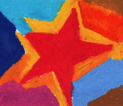 Simple Star-straight Edge Art Print by Stephen Anderson
