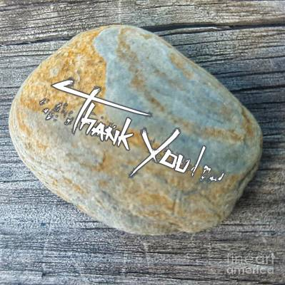Photograph - Simple Thank You Note by Rachel Hannah