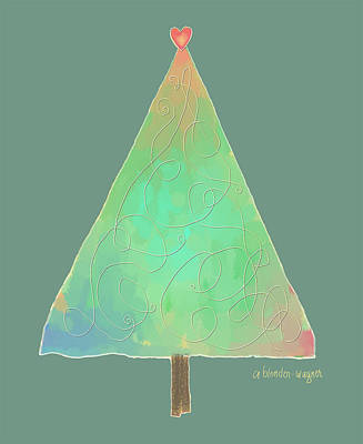 Digital Digital Art - Simple Tree by Arline Wagner