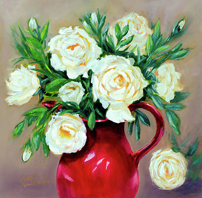 Painting - Simple White Roses by Vicki VanDeBerghe
