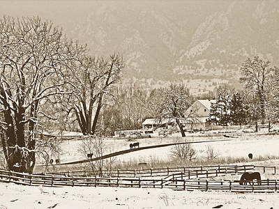 Snow Photograph - Simpler Times by Marilyn Hunt