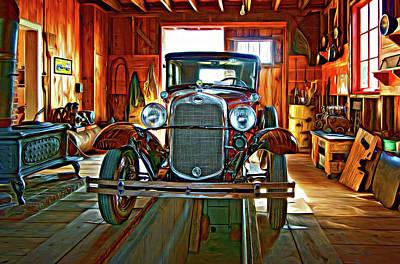 Car Repairs Photograph - Simpler Times - Paint 2 by Steve Harrington