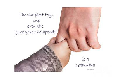 Photograph - Simplest Toy, Grandma by Sandra Clark