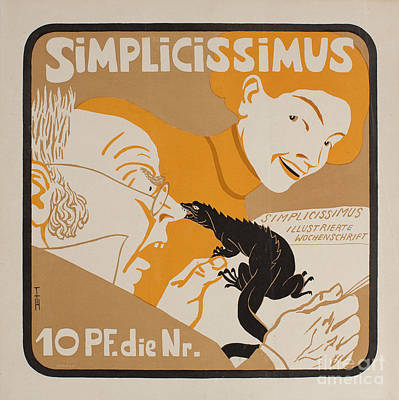 Poster Painting - Simplicissimus by MotionAge Designs
