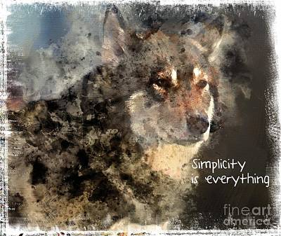 Simplicity Is Everything -light Art Print