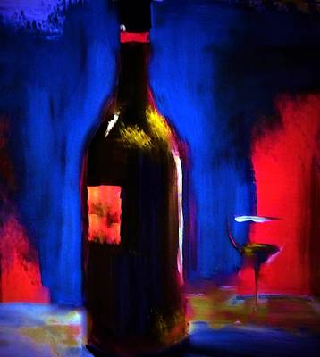 Glass Painting - Simplicity Is Fine by Lisa Kaiser