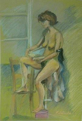 Seated Nude Girl Photograph - ''simplicity'' by Marianna Patinioti