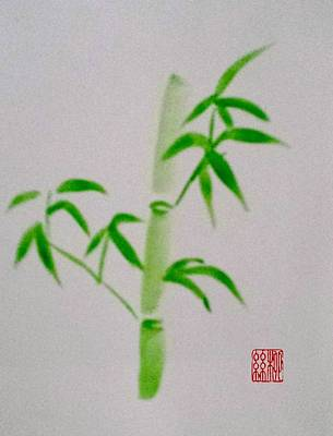 Painting - Simplicity Of Bamboo by Margaret Welsh Willowsilk