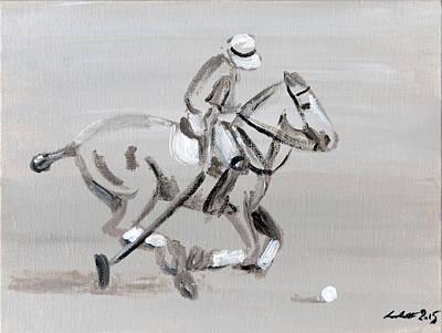 Polo Pony Painting - Simplicity Of Polo by Lena Lottsfeldt Vincken