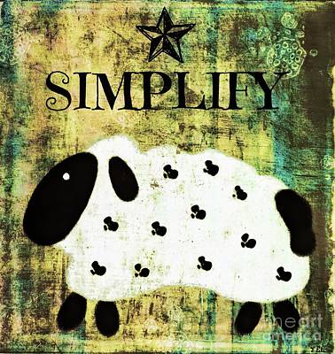 Painting - Simplify Sheep by Tina LeCour