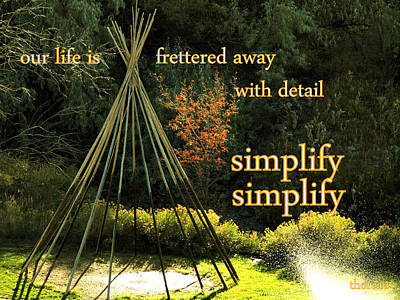Simplify Your Life Art Print