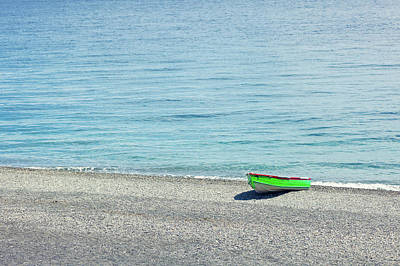 Photograph - Simply A Green Boat by Alfio Finocchiaro