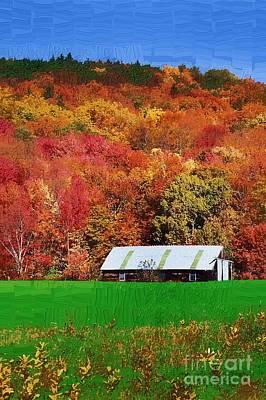 Simply Adirondack Art Print by Diane E Berry