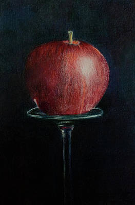 Drawing - Simply An Apple by Lynn Hughes