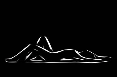 Body Scape Digital Art - Simply Beautiful by Steve K