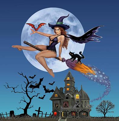 Digital Art - Simply Bewitch'n by Glenn Holbrook