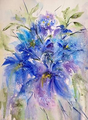 Painting - Simply Blue by Bette Orr