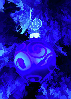Photograph - Simply Blue Christmas Ornament by Aimee L Maher ALM GALLERY