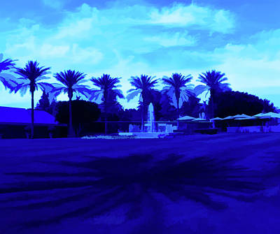 Photograph - Simply Blue Palm Trees And Shadows by Aimee L Maher Photography and Art Visit ALMGallerydotcom