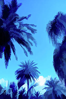Photograph - Simply Blue Palms In The Sky by Aimee L Maher Photography and Art Visit ALMGallerydotcom