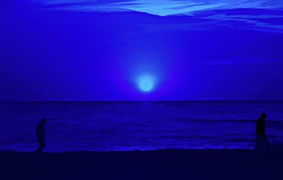 Photograph - Simply Blue Peaceful Evening by Aimee L Maher ALM GALLERY