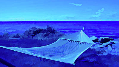 Photograph - Simply Blue Perfect Vacation Spot by Aimee L Maher Photography and Art Visit ALMGallerydotcom