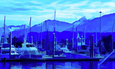 Photograph - Simply Blue Seward Alaska 2 by Aimee L Maher ALM GALLERY