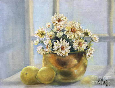Painting - Simply Daisies by Marlene Book