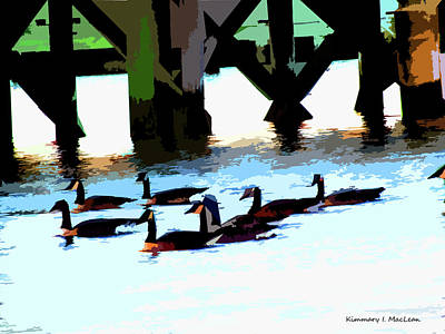 Digital Art - Simply Geese by Kimmary I MacLean