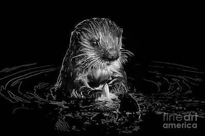 Simply Otter Art Print