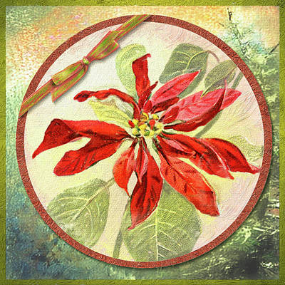 Digital Art - Simply Poinsettia by Bill Johnson