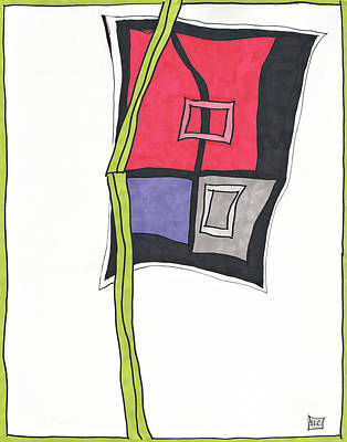 Abstract Shapes Drawing - Simply Put by Sandra Church