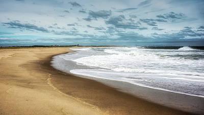 Photograph - Simply Sand Sky And Surf by Gary Slawsky