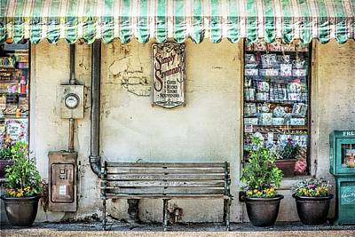 Photograph - Simply Savannah Bench Historic River Street by Melissa Bittinger