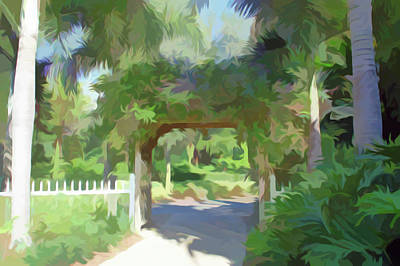Palm Photograph - Simply Soft Garden Walkway by Aimee L Maher Photography and Art Visit ALMGallerydotcom