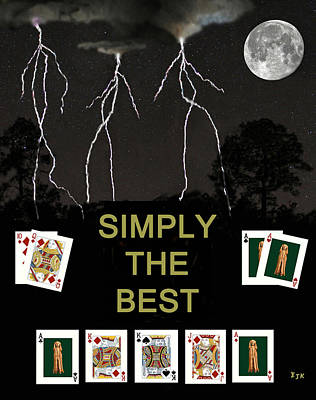 Norway Mixed Media - Simply The Best Poker Cards by Eric Kempson