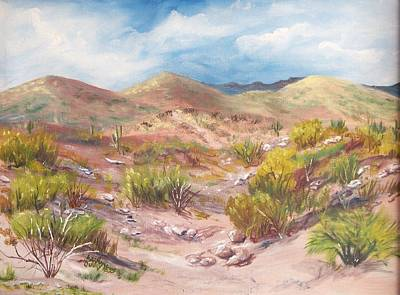 Painting - Simply The Desert by Jean Ann Curry Hess